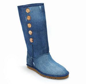 Обувь джинсовая